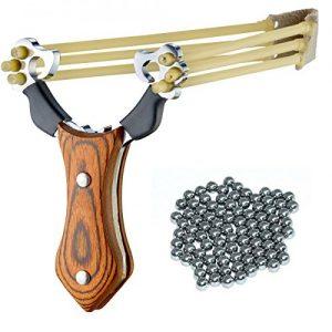 Profi Steinschleuder mit Holz-Griff
